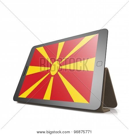 Tablet With Macedonia Flag