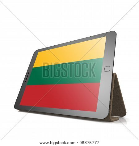 Tablet With Lithuania Flag