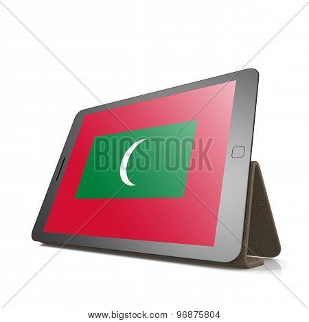 Tablet With Maldives Flag