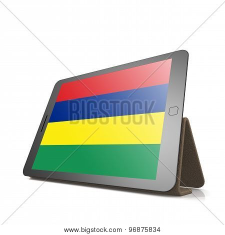 Tablet With Mauritius Flag