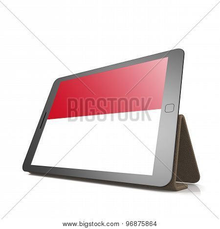 Tablet With Monaco Flag