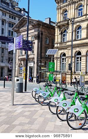 Liverpool City Hire Bikes.