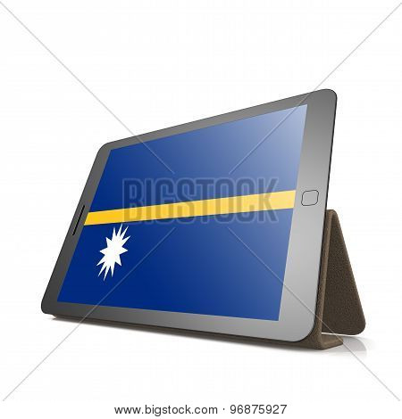 Tablet With Nauru Flag