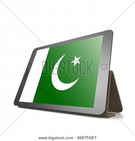 Tablet With Pakistan Flag
