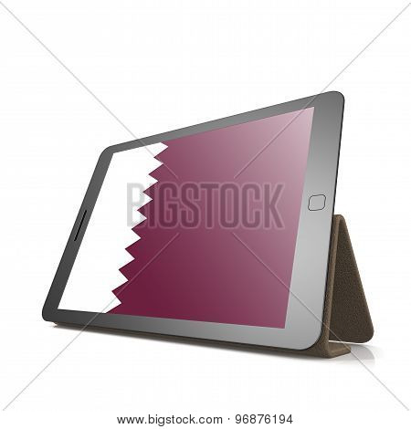 Tablet With Qatar Flag