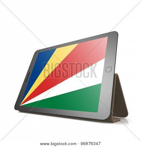 Tablet With Seychelles Flag