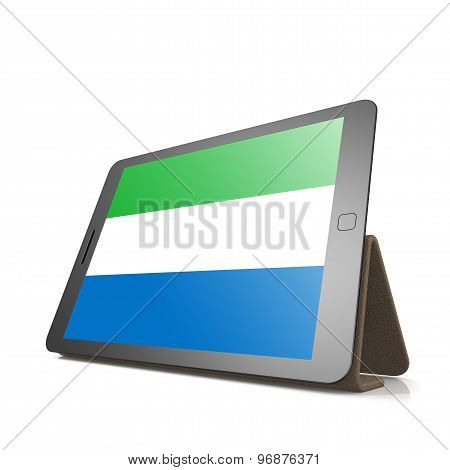 Tablet With Sierra Leone Flag
