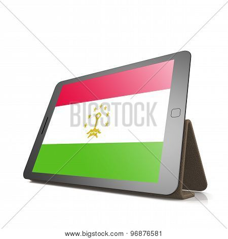 Tablet With Tajikistan Flag