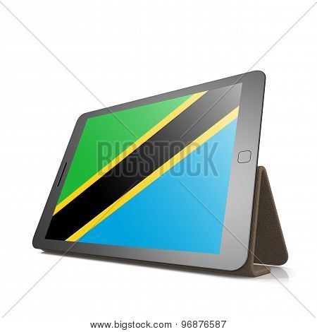 Tablet With Tanzania Flag