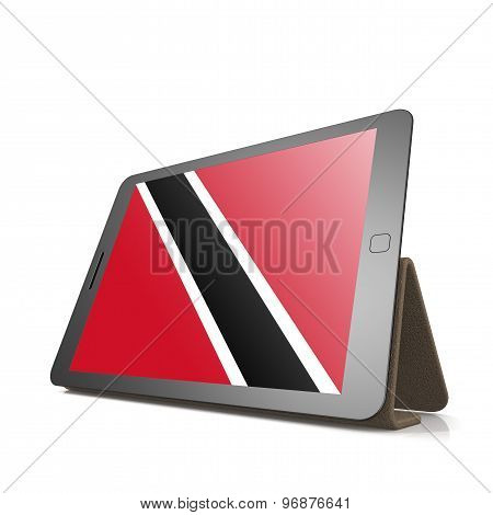 Tablet With Trinidad And Tobago Flag