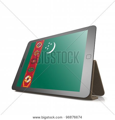 Tablet With Turkmenistan Flag