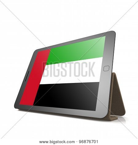 Tablet With United Arab Emirates Flag