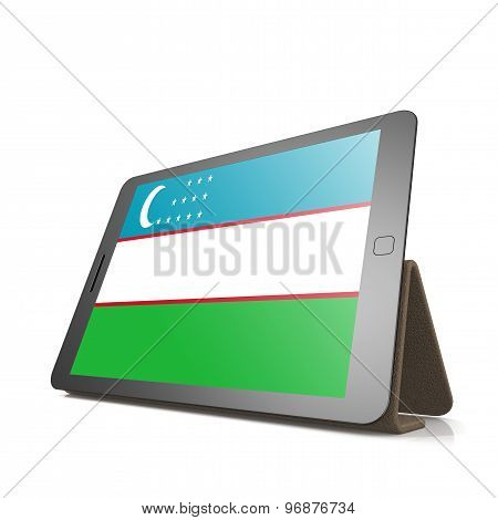 Tablet With Uzbekistan Flag