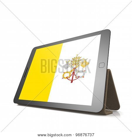 Tablet With Vatican City Flag