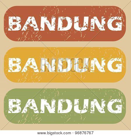 Vintage Bandung stamp set