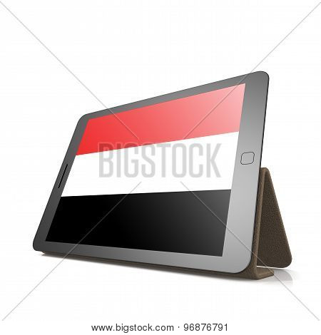 Tablet With Yemen Flag