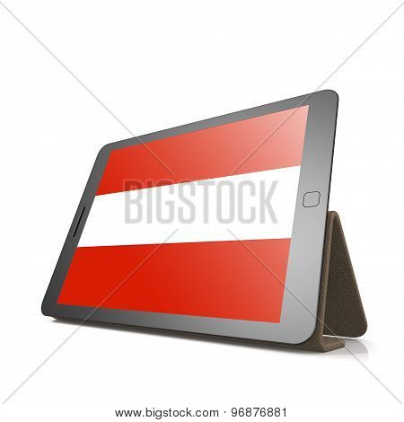 Tablet With Austria Flag