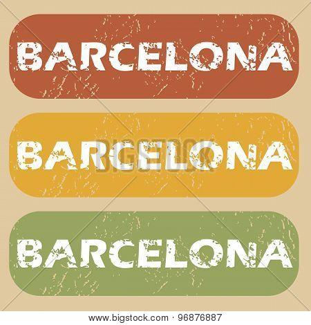 Vintage Barcelona stamp set