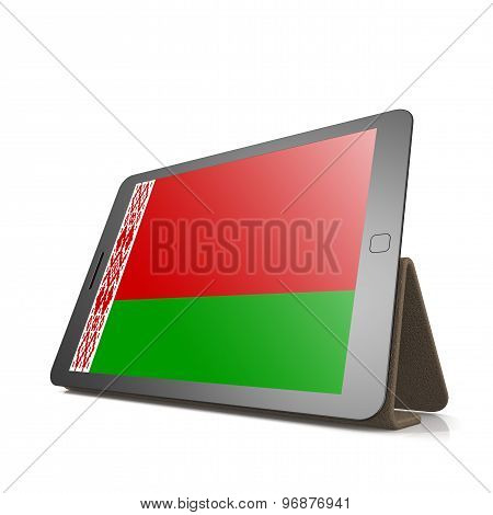 Tablet With Belarus Flag