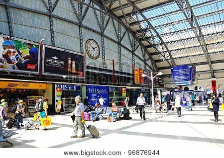 Lime Street Railway Station Concourse.