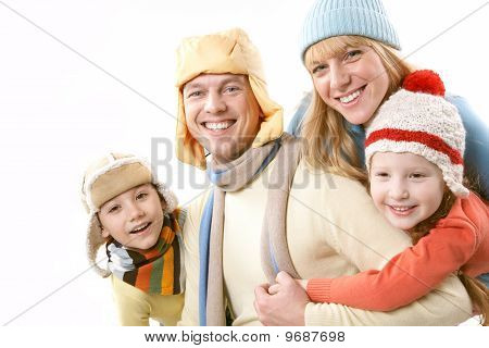 Family In Winter