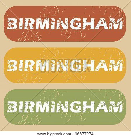 Vintage Birmingham stamp set