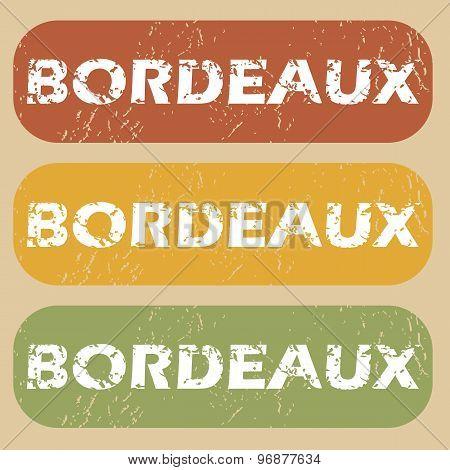 Vintage Bordeaux stamp set