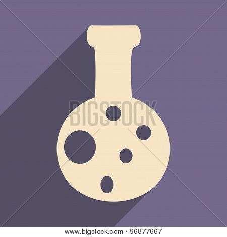 Flat with shadow icon and mobile applacation flasks