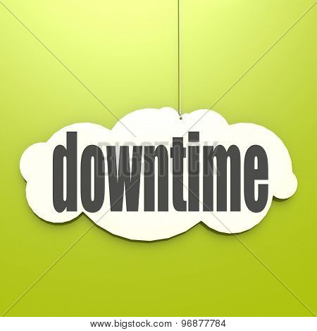White Cloud With Downtime