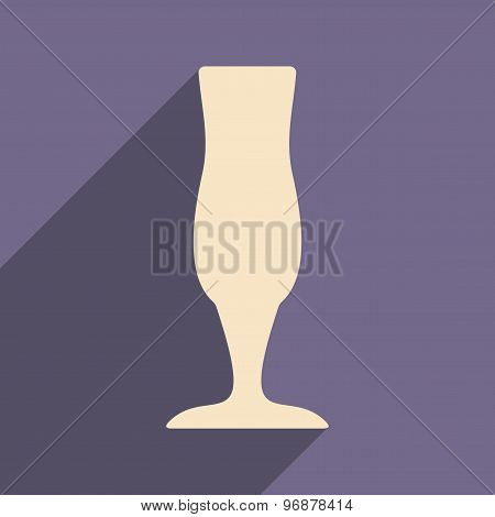 Flat with shadow icon and mobile applacation stemware