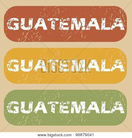 Vintage Guatemala stamp set