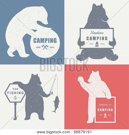 Sign Bear Camping