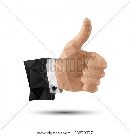 Polygonal Thumbs Up Hand Sign