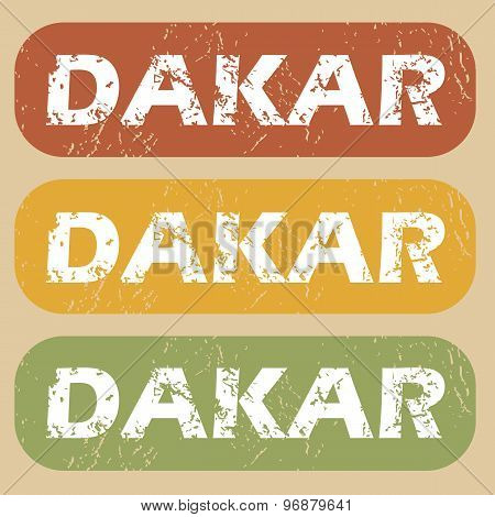 Vintage Dakar stamp set