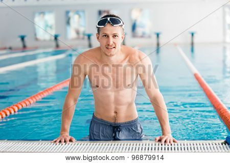 Swimmer in the pool