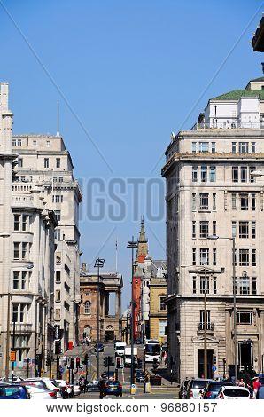 City centre street, Liverpool.