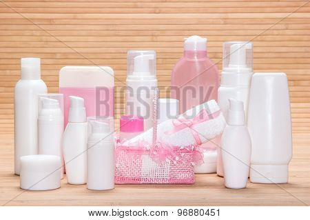 Big Collection Of Cosmetic Products For Skincare
