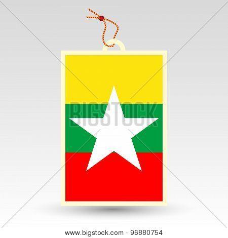 Burmese Price Tag - Symbol Of Made In Burma