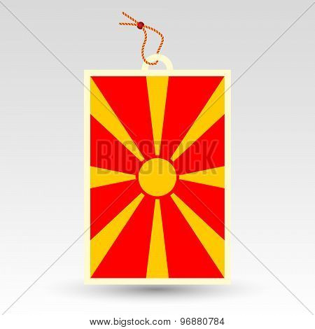 Macedonian Price Tag - Symbol Of Made In Macedonia