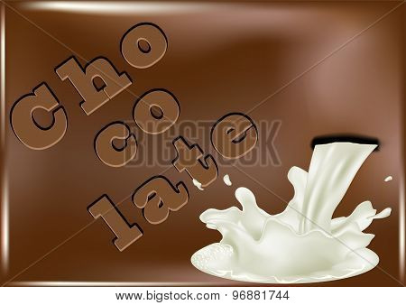 Chocolate And Pouring Milk