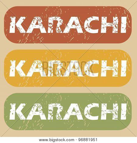 Vintage Karachi stamp set