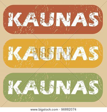 Vintage Kaunas stamp set