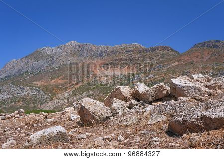 Stone ruins in the mountains