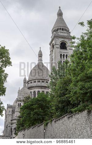 The  Sacre Coeur Church In Paris, France