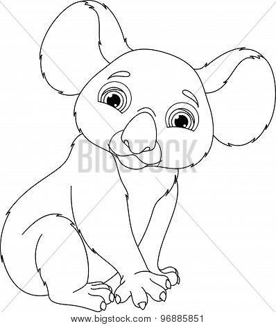 Koala Coloring Page