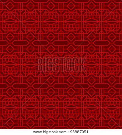 Seamless Chinese window tracery cross diamond geometry pattern background.