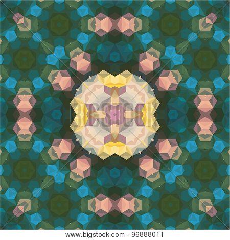 Kaleidoscopic Seamless Pattern.