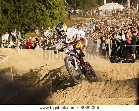 Fourcross Biker Race, Winner - Tomas Slavik On The Final Round - Editorial
