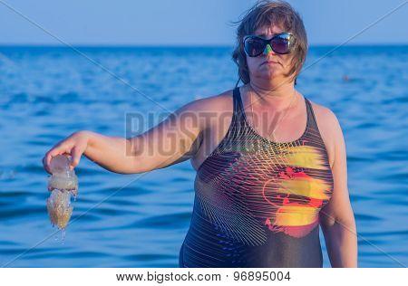 A Woman Keeps Jellyfish