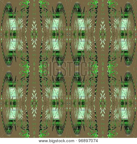 Seamless pattern brown green